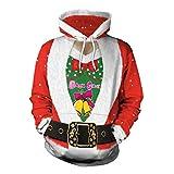 LUCKYCAT Weihnachten Damen Slim Fit Hoodie Langarm Kapuzenpullover 3D Druck Muster Sweatshirt Pullover Kapuzenpulli Kapuzenjacke