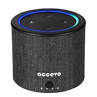 Akku für Echo Dot 2, Accevo 10000mAh Powerbank Portable Batteriestation Schutzhülle für 2nd Generation Echo Dot und Android Geräte (Nur Battery Base)