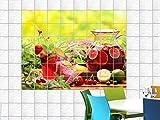 Graz Design 761662_15x15_50 Fliesenaufkleber Fliesendekor Bad Küche Natur Fliesensticker Frucht