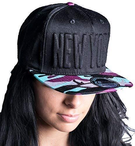 New York, NY caps Casquette à visière plate clipser Imprimé camouflage arrière chapeaux, fabriqué Par Ethos-pour Homme-bord pour chapeaux, bling bling