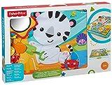 Fisher-Price – Große Spiel- und Krabbeldecke mit Tiermotiven und Babyspielzeug, 1 x 1.50 m, blau - 7