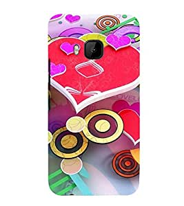 printtech Premium Best Quality Multi color Designer Printed back cover Back Case Cover for HTC One M9 / HTC M9 / HTC One Hima