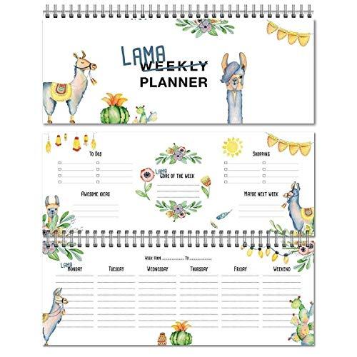 (LamaKalender/Wochenkalender/Planer/ WeeklyPlanner/ Schulkalender/Haushaltsplaner / To Do /Geschenkfür Tochter/ Made in Germany /Tischkalender2018/Geschenkfür Schüler/Grundschule)