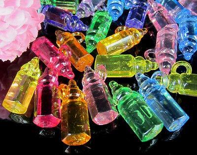 e mischen acryl Flasche Baby Shower Favors klar Junge mädchen für Party Dekorationen ()