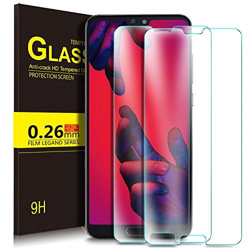 Huawei P20 Pro Protector de Pantalla, KuGi Cristal Templado Vidrio Templado [9H Dureza] [Alta Definicion] Protector de pantalla para Huawei P20 Pro (Paquete de 2)
