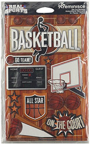 Scrapbooking Sticker Basketball (Unbekannt Real Sports Dimensional Cardstock Stickers-Basketball)