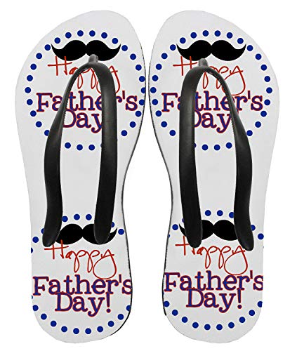 bubbleshirt Ciabatte Infradito Festa del papà - Happy Father's Day - Dad - Moustaches - Baffi - Idea Regalo