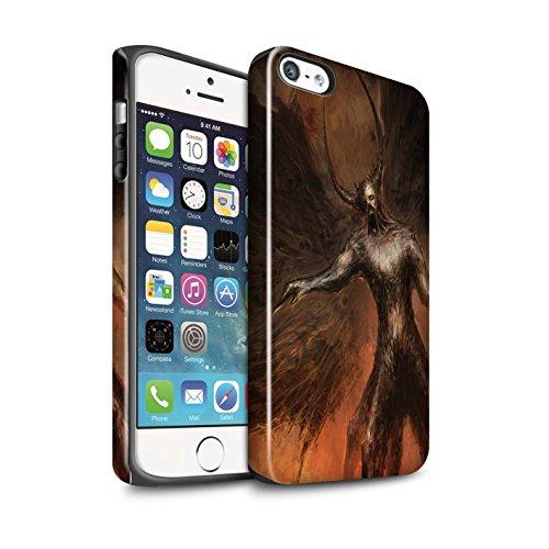 Offiziell Chris Cold Hülle / Glanz Harten Stoßfest Case für Apple iPhone SE / Pack 10pcs Muster / Dunkle Kunst Dämon Kollektion Schwarzen Flügeln