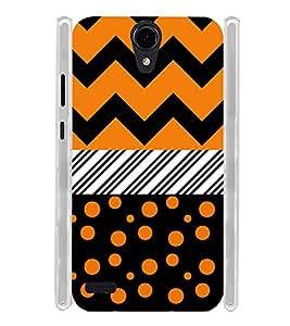 Girl Orange Dot Pattern Soft Silicon Rubberized Back Case Cover for Panasonic T45 4G :: Panasonic T45