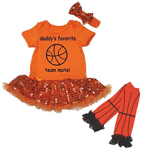 Petitebelle Baby Mädchen (0-24 Monate) Body orange Ornage Gr. L, Ornage Favorite Short-sleeve Bodysuit