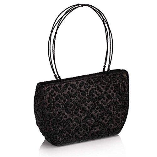 ERGEOB® Donna Clutch sacchetto di sera fatto a mano Classic borsetta perla taschino diamante festetaschino caffè