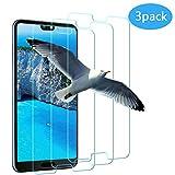 Vivicool [Lotde3]VerreTrempé Huawei P20, Protection écran Huawei P20, Film Protection pour Huawei P20, Ultra Résistant Indice Dureté 9H Anti Rayures - Sans Bulles D'AIR