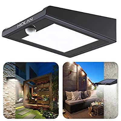 ?Upgraded Version?30 LED Solar Light,Holan Solar Powered Security Lights Outdoor, Super Bright / Waterproof / Wireless / 120 Degree Wide Angle Motion Sensor Wall Lights for Garden, Fence, Patio, Deck, Yard, Driveway, Stairs, Outside Wall etc …