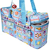 Guru kripa baby diaper bags are specially designed to be equipped with a temperature maintaining device for nursing bottle. It has enough capacity to contain your baby's necessities, it is particularly useful while you are going out, traveling or sho...
