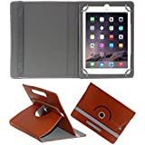 ACM Rotating 360° Leather Flip Case For Apple Ipad Air 1 Tablet Cover Stand Brown