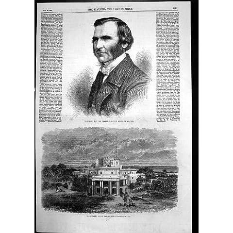 Stampa Antica di Rev Dott. Temple Bishop