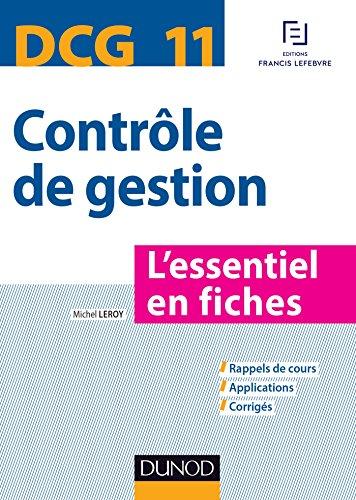 DCG 11 - Contrôle de gestion - L'essentiel en fiches