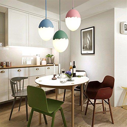 Leohome Nordic Restaurant Kronleuchter kreative Persönlichkeit moderne einfache Schlafzimmer Bar Kinderzimmer farbige Ei-förmigen Macarons LED-Lampe, 3 Köpfe runde Decke