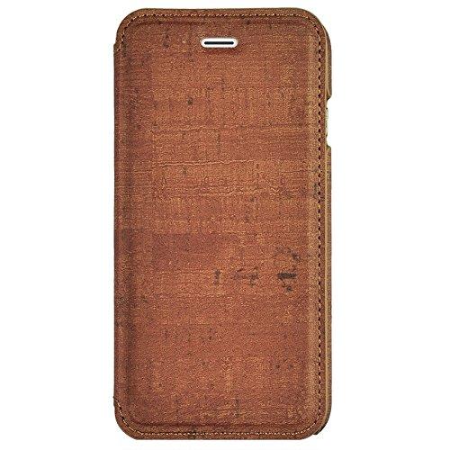 Wkae Case Cover Retro-Stil Holzmaserung Stitching-Leder-Kasten mit Halter für iPhone 6 &6s ( Color : Yellow ) Brown