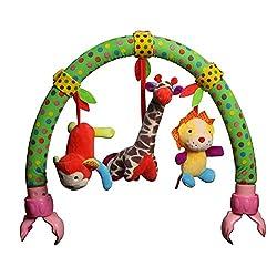 Luerme Baby Stroller Toy Pram Crib Arch Hanging Plush Toy Musical Rattle Toys (B)