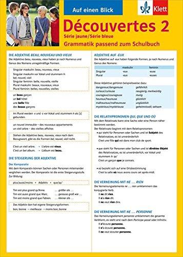 Découvertes Série jaune und bleue 2. Grammatik par Bettina Malek
