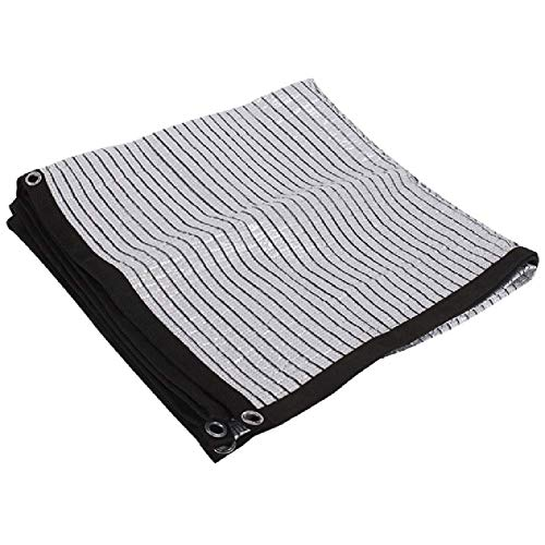Kzf Verstärkungswinkel absorbiert Keine Wärme Aluminiumfolie, Sonnenschutz Tuch Schatten net Pflanzenschutz Sonnenraum Metallloch,1x1m -