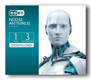 Eset NOD32 Antivirus (2014)   PC   3 user   1 year   digital download [Download]