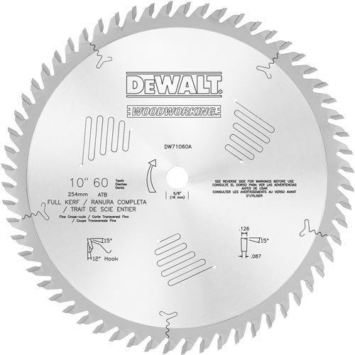 Atb-cross (DEWALT DW71060A 10-Inch 60T 12Deg Atb Cross Cuts by DEWALT)
