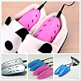 Generic For Adult Pink : 220v Shoes Dryer Heating Heater boots Footwear Portable Disinfectant Shoes warmer for child kids and adult GYH