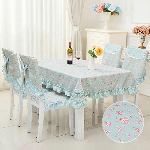 Imperméable nappe Nappes pastorales Tissu en tissu Tissu rectangulaire en table basse Maçonnette en dentelle (2 couleurs en option) (taille facultative) pour dîner ( Couleur : A , taille : 130*130cm )