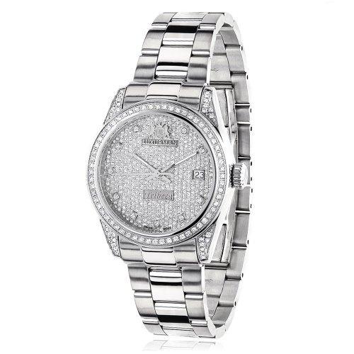 LUXURMAN 2480 - Reloj para mujeres, correa de acero inoxidable color plateado