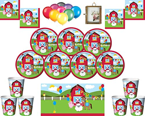 Farmhouse Fun Kids Birthday Party Supplies Platos Vasos...