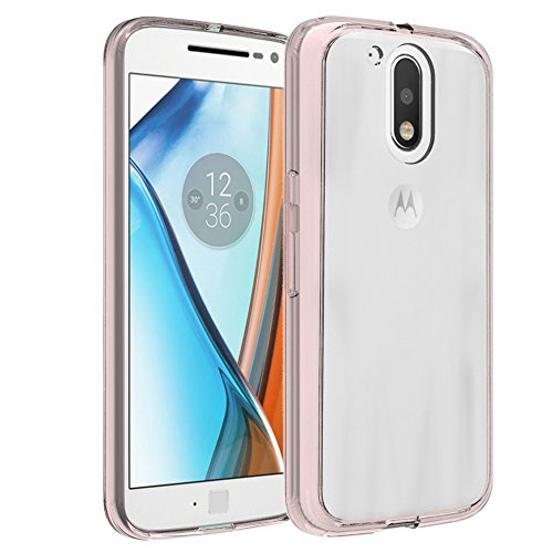 Preisvergleich Produktbild Motorola Moto G4 / G4 Plus Handy Tasche, FoneExpert® Ultra Air Hybrid Air-Cushion Kantenschutz Technologie - Bumper Case Durchsichtige Rückschale Hülle Cover schutzhülle für Motorola Moto G4 / G4 Plus (Crystal Rose)