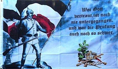 UB Fahne / Flagge Deutsches Kaiserreich - Wer Gott vertraut Deutschland 90 cm x 150 cm Neuware!!!