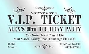 70d'anniversaire personnalisée magnétique Invitations–Invitations VIP Ticket Pour n'importe quel–Invitation d'anniversaire pour adultes–Enveloppes Incluses
