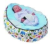 Pouf pour bébé avec harnais de sécurité réglable et 2housses