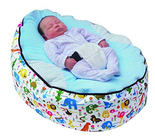 poltrona a sacco per neonato, con cintura di sicurezza regolabile, con 2 fodere