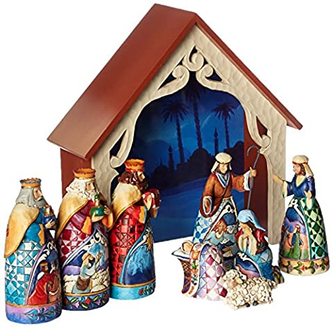 Enesco 4034382 Mini-Krippe, 9-teiliges Set, 25 cm