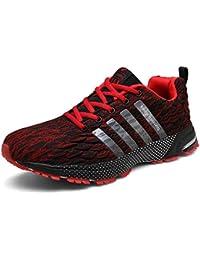 timeless design e1e4a 22a3c SOLLOMENSI Chaussures de Course Running Compétition Sport Trail  Entraînement Homme Femme Cinq Couleurs Basket