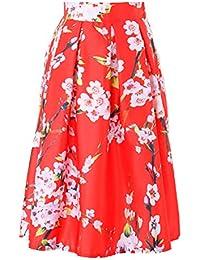803b30726208 Amazon.es: faldas largas - Rojo / Trajes y blazers / Mujer: Ropa