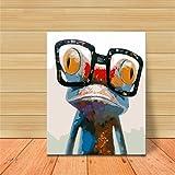 Godess4 DIY Ölmalerei Set Digital Malerei - Crazy Frog 16 * 20 Zoll (40 * 50cm) Füllen Sie Ihre handgemalte Dekoration mit digitalem Ölmalerei