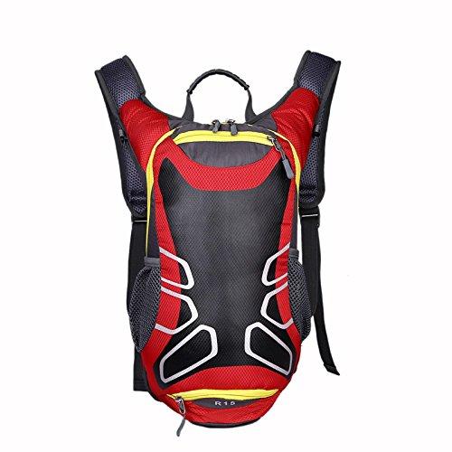HeyBro Rucksack für Wandern, Bergsteigen, 15 l, Atmungsaktiv, Basketball, Rot
