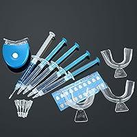 Anself Juego de Blanqueador de Dientes Equipo Dental de Blanqueamiento (Sistema+Gel+Banda+Guía de Diente+Cabeza de Tubo)