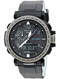 Casio De los hombres Pro Trek de cuarzo resina y silicona Casual reloj, color: negro (modelo: prg-650y-1cr)