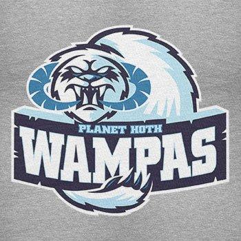 TEXLAB - Planet Hoth Wampas - Herren Langarm T-Shirt Grau Meliert