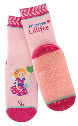 Prinzessin Lillifee Stoppersocken Kinder Rutschsocken rosa - Mädchenstrümpfe mit Motiv und Anti-Rutsch-Sohle - ABS Socken, Größe 17-34, K/Sox:17-18