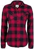 Brandit Amy Flannel Checkshirt Chemise Femme noir/blanc