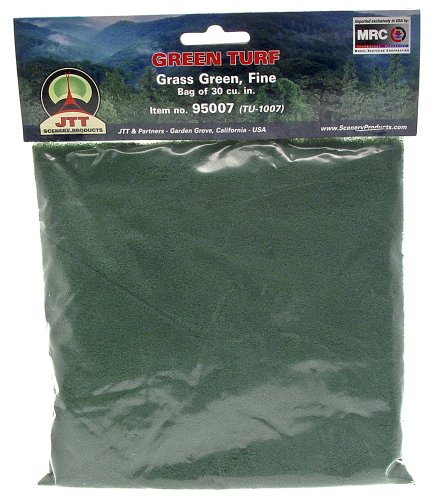 JTT Landscaping Material - Green Turf, Grass Green, Fine (Grass Turf-green)