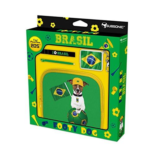 Preisvergleich Produktbild Subsonic Footy Boardshort Dog Case Brasil Aufbewahrung Konsole kompatibel N3DS 2DS