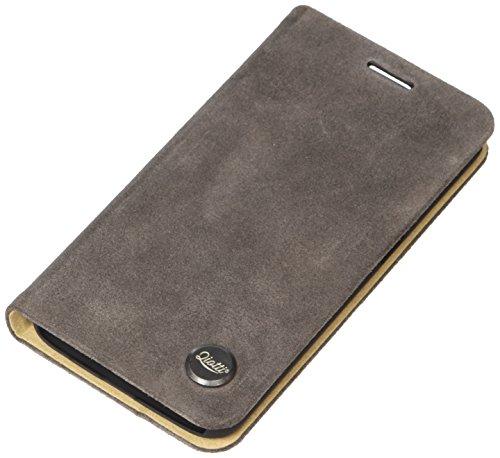 QIOTTI QX-B-0115-06-SGS6 Booklet Q.Book Carrier Premium Echtleder für Samsung Galaxy S6 grau